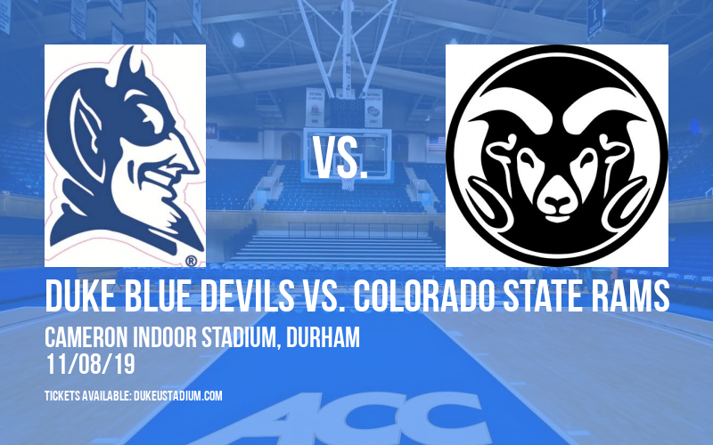 Duke Blue Devils vs. Colorado State Rams at Cameron Indoor Stadium