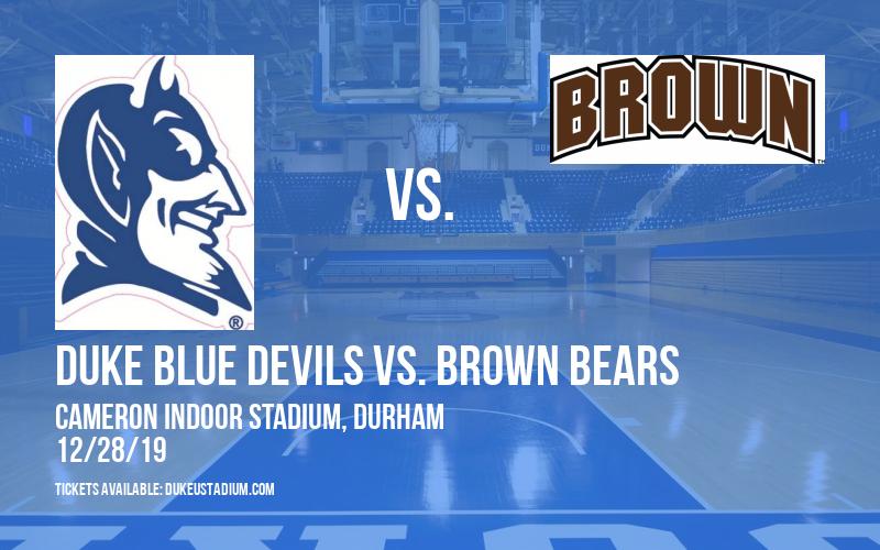 Duke Blue Devils vs. Brown Bears at Cameron Indoor Stadium