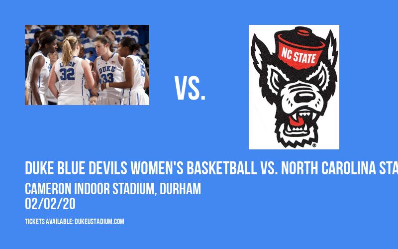 Duke Blue Devils Women's Basketball vs. North Carolina State Wolfpack at Cameron Indoor Stadium