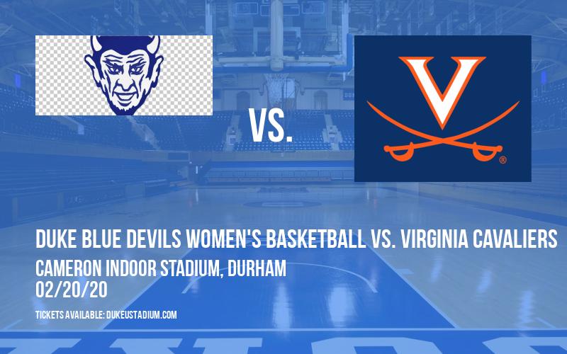 Duke Blue Devils Women's Basketball vs. Virginia Cavaliers at Cameron Indoor Stadium